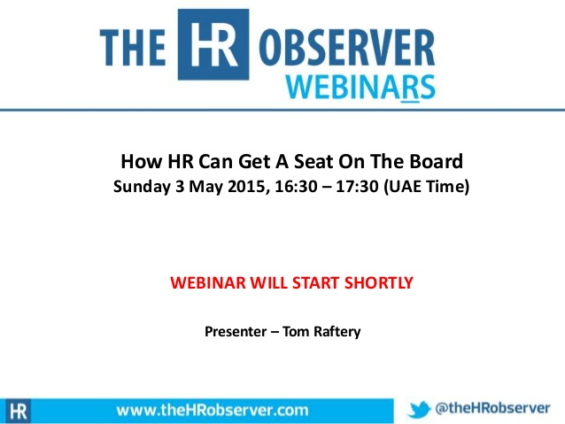 How HR Can Get A Seat On The Board?